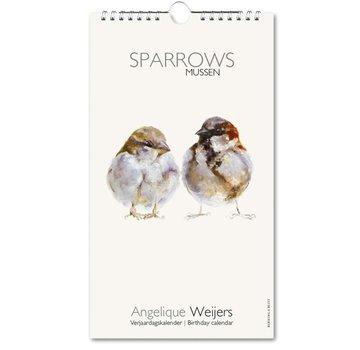 Bekking & Blitz Sparrows, Angelique Weijers Birthday Calendar