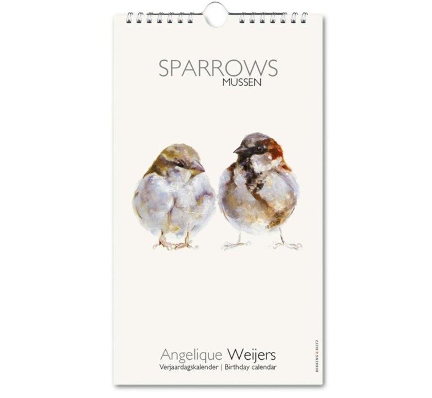 Sparrows, Angelique Weijers Birthday Calendar