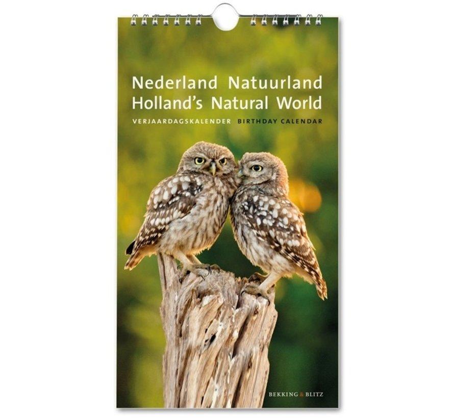Netherlands Nature Land Birthday Calendar