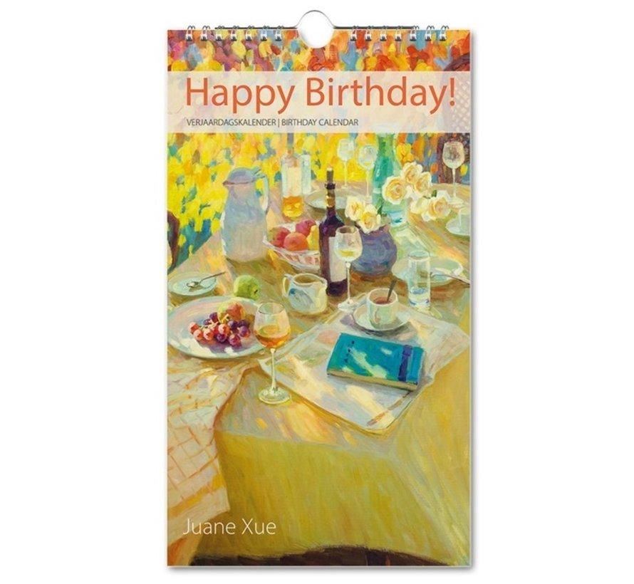 Juane Xue Happy Birthday Birthday Calendar