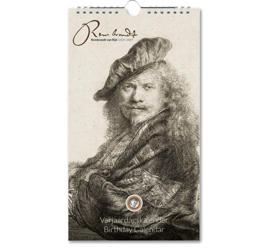 Rembrandt van Rijn Birthday Calendar