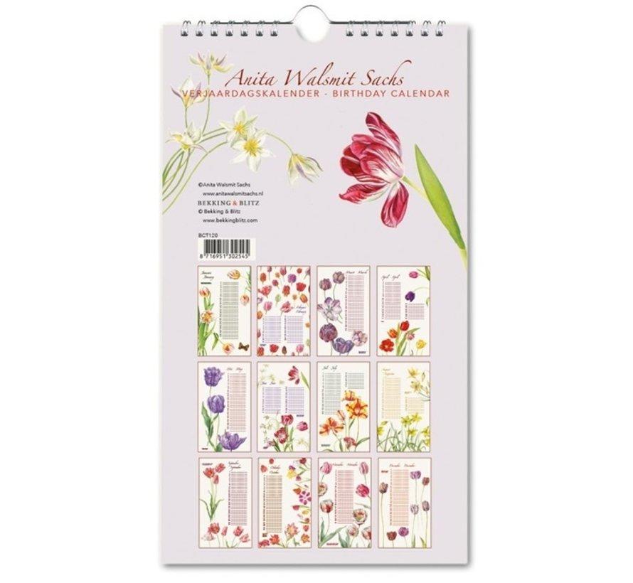 Anita Walsmit Sachs Birthday Calendar