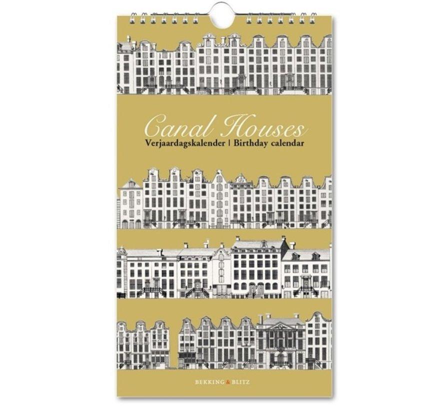 Canal houses Verjaardagskalender