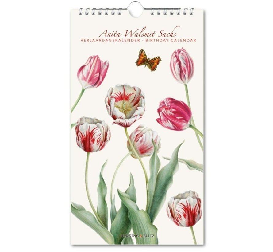 Tulips, Anita Walsmit Sachs Birthday Calendar