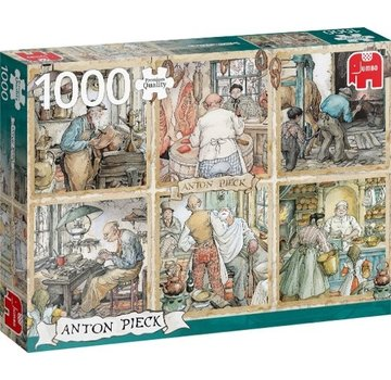 Jumbo Puzzle Pieces Anton Pieck Craftmanship 1000