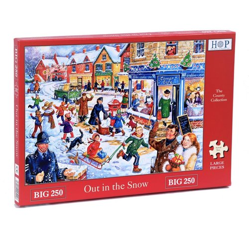 The House of Puzzles Out in the Snow  XL Puzzle 250 pieces