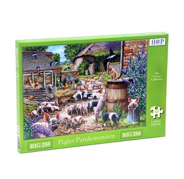 The House of Puzzles Piglet Pandemonium Puzzel 250 XL stukjes