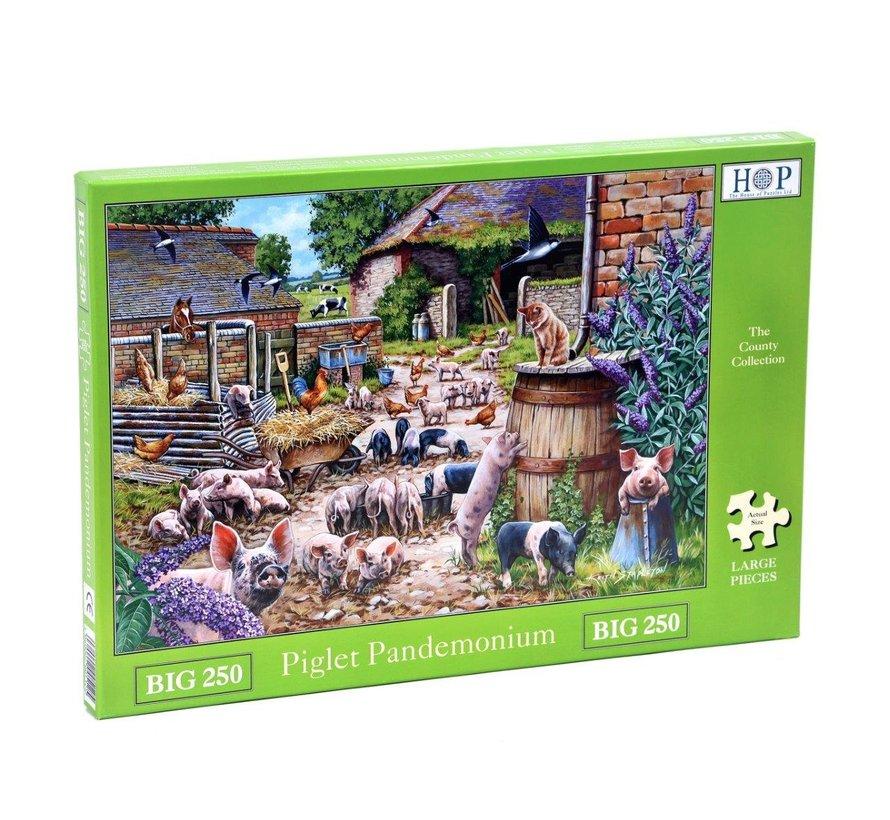 Piglet Pandemonium  XL Puzzle 250 pieces