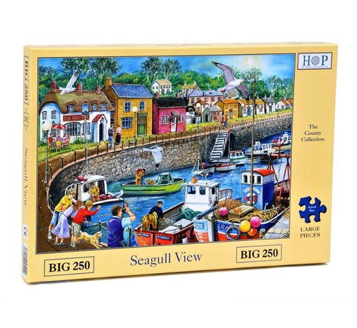 The House of Puzzles Seagull View  XL Puzzle 250 pieces