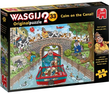 Jumbo Wasgij Original 33 Calm on the Canal Puzzle 1000 Pieces
