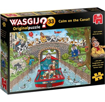 Jumbo Wasgij Original 33 Calm on the Canal Puzzel 1000 stukjes