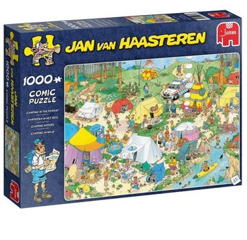 Jumbo Jan van Haasteren – Camping in the Forest Puzzle 1000 Pieces