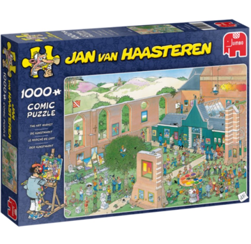Jumbo Jan van Haasteren – De Kunstmarkt Puzzel 1000 Stukjes