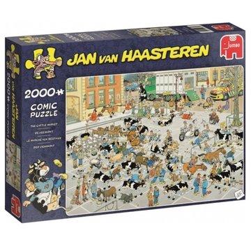 Jumbo Jan van Haasteren - The Cattle Market 2000 Puzzle Pieces