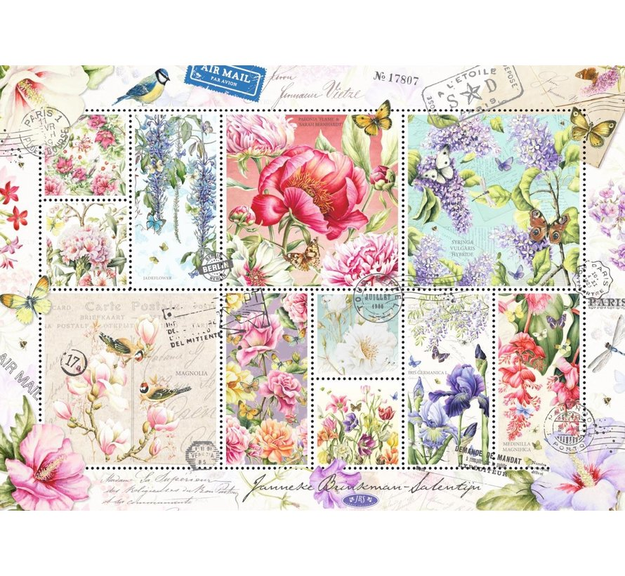 Puzzle Janneke Brinkman Flower Stamps 1000 Pieces