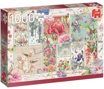 Jumbo Puzzle Janneke Brinkman Flower Stamps 1000 Pieces