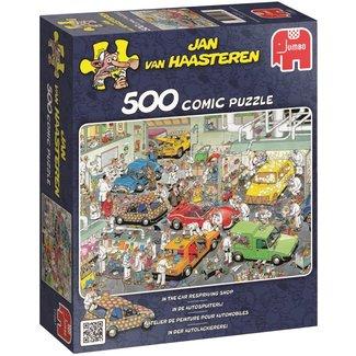 Jumbo Jan van Haasteren – In de Autospuiterij Puzzel 500 Stukjes