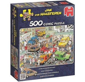 Jumbo Jan van Haasteren - Die Autospuiterij 500 Puzzle Pieces