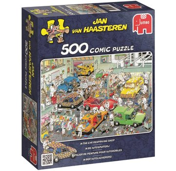 Jumbo Jan van Haasteren – In the car Respraying Shop Puzzle 500 Pieces