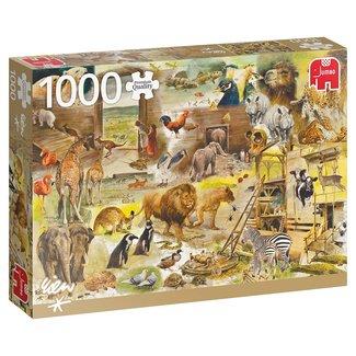 Jumbo Rien Poortvliet Bouw van de ark van Noach Puzzel 1000 Stukjes