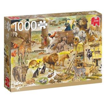 Jumbo Rien Poortvliet Construction of Noah's Ark in 1000 Pieces Puzzle