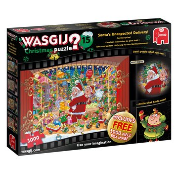 Jumbo Wasgij 15 Christmas Puzzle pieces 2x 1000