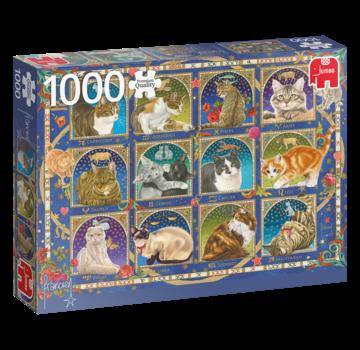 Jumbo Franciens Katzen 1000 Horoscope Puzzle Pieces
