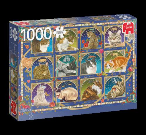 Jumbo Cats Poster Puzzle Pieces 1000 Franciens cats - Copy