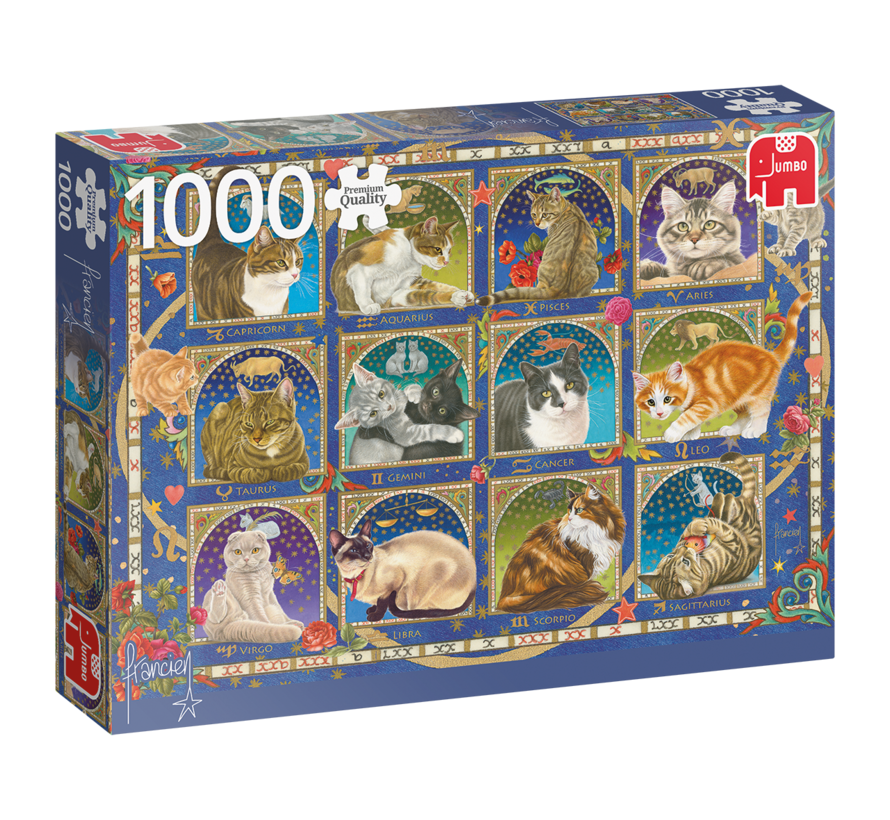 Cats Poster Puzzle Pieces 1000 Franciens cats - Copy
