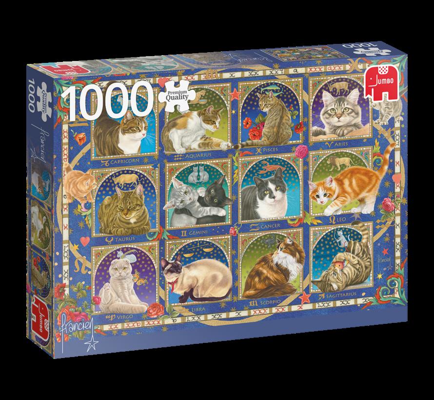 Franciens Katten Horoscope Puzzel 1000 Stukjes