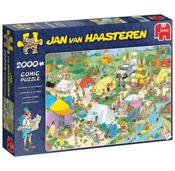 Jumbo Jan van Haasteren - Camping dans la forêt 2000 Puzzle Pieces