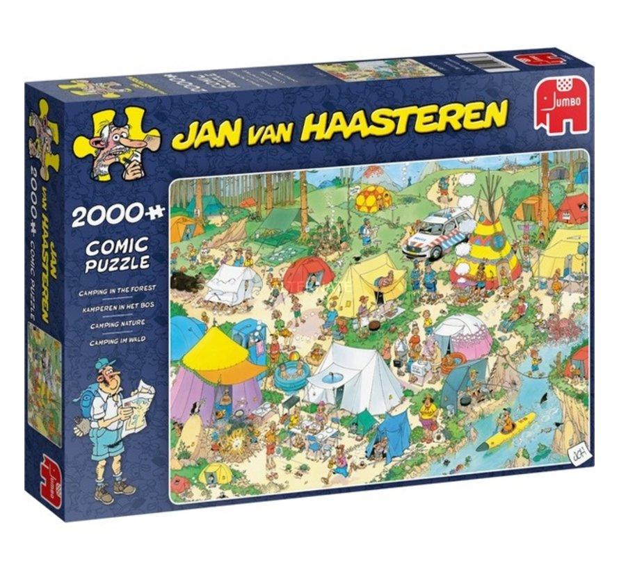 Jan van Haasteren – Kamperen in het Bos Puzzel 2000 Stukjes