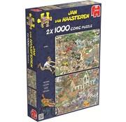 Jumbo Jan van Haasteren – Safari en Storm Puzzel 2x 1000 Stukjes