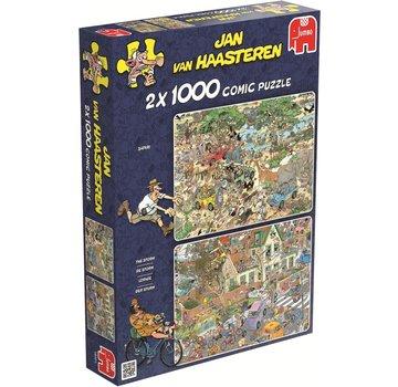 Jumbo Jan van Haasteren – Safari and Storm Puzzle 2x 1000 Pieces