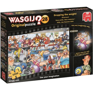 Jumbo Wasgij Original 28 Dropping the Weight Puzzle 1000 Pieces