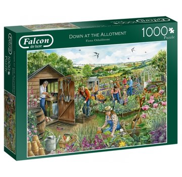 Falcon Down at the Allotment 1000 Piece Jigsaw Puzzle
