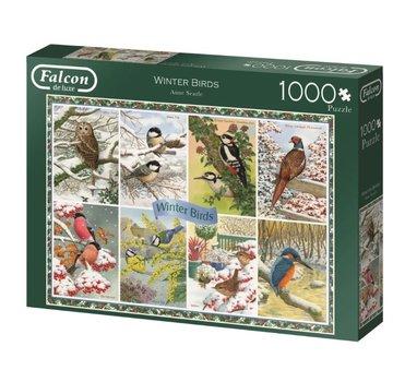 Falcon Winter Birds 1000 Piece Jigsaw Puzzle