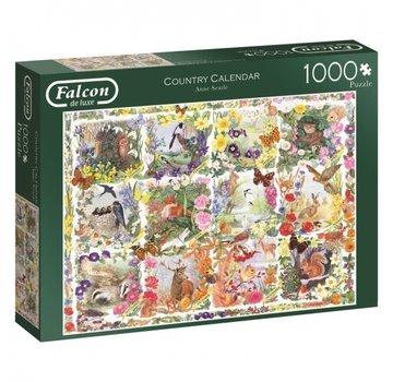 Falcon Country Calendar 1000 Piece Jigsaw Puzzle