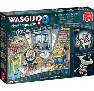 Jumbo Wasgij Mystery 3 Drama at the Opera Puzzle 1000 Pieces