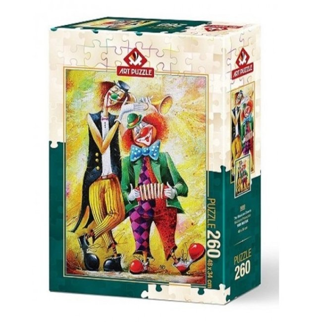 Art Puzzle The Musician Clowns Puzzel 260 Stukjes