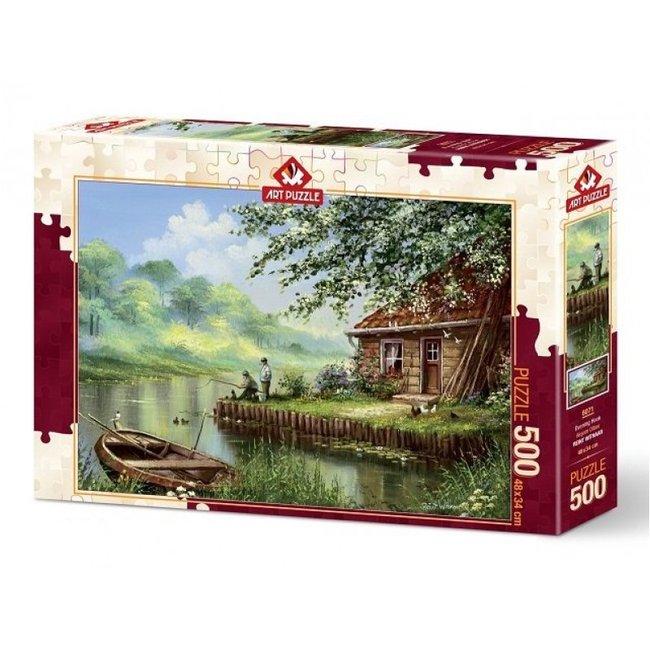Art Puzzle Abend Haken 500 Puzzle Pieces