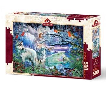 Art Puzzle Glacier Wald Puzzle 500 Stück