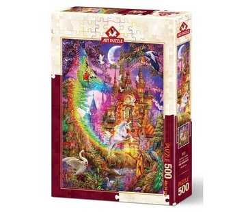 Art Puzzle 500 Rainbow Castle Puzzle Pieces
