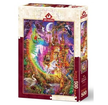Art Puzzle Rainbow Castle Puzzel 500 Stukjes