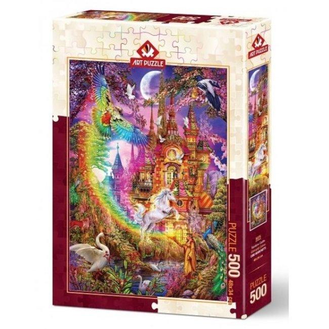 Art Puzzle 500 Rainbow Castle Puzzle Pieces
