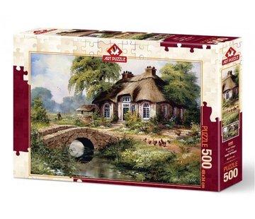 Art Puzzle Green Village Puzzel 500 Stukjes