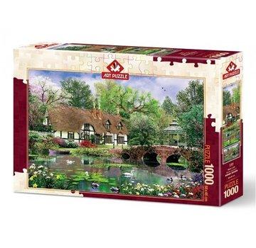 Art Puzzle Waterlilies Puzzel 1000 Stukjes