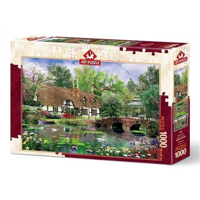 Art Puzzle Wasser-Lilien 1000 Puzzle Pieces