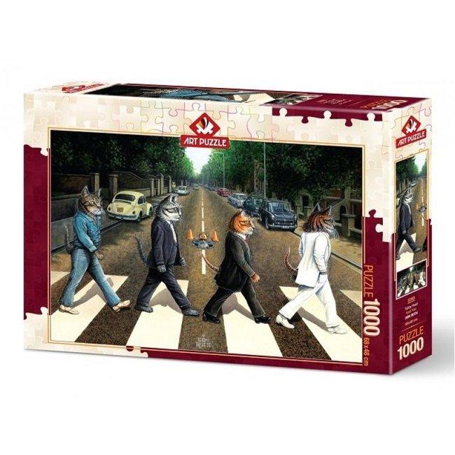 Art Puzzle Tabby Road Puzzel 1000 Stukjes
