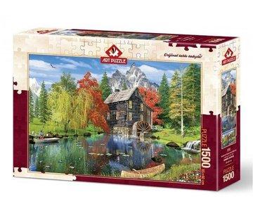 Art Puzzle Fishing by the Mill Puzzel 1500 Stukjes